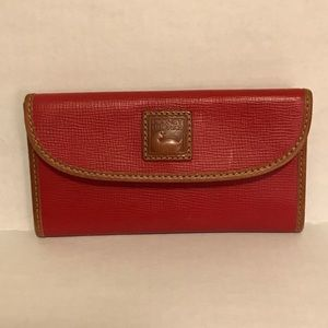 Dooney and bourke red leather wallet